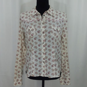 Mossimo Womans Long Sleeve Blouse Cream A27